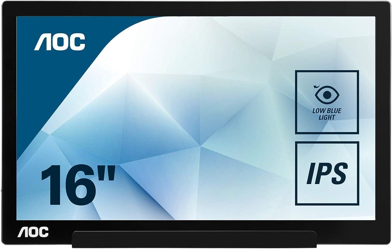 "AOC I1601FWUX USB-C Powered 1920x1080 16"" Portable IPS Monitor $116  Coupon"