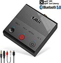 1Mii Long Range Bluetooth 5.0 Transmitter Wireless Bluetooth Adapter for TV PC Support aptX HD & Low Latency with Optical Coaxial RCA AUX 3.5mm USB Audio Inputs
