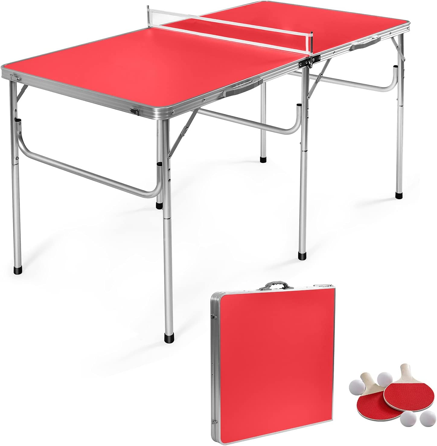 GYMAX Indoor Table Tennis Set Fresno Mall Pong Ping wit Brand new Folding