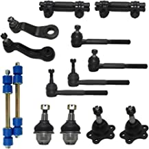 New Complete 14-Piece Front Suspension Kit FOR STAMPED STEEL LOWER CONTROL ARMS 4x4 10-Year Warranty- All (4) Front Ball Joints [45.79mm], 4 Tie Rods