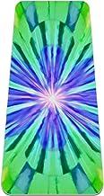 yogamat, klassieke pro fitness mat TPE eco-vriendelijke antislip oefenmat voor yoga, pilates en gymnastiek, groen en roze