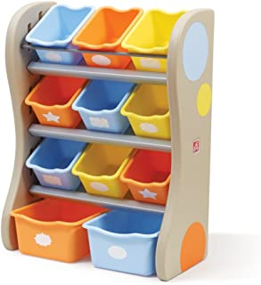 Step2 728900 Fun Time Room Organizer With Colorful Tubs - Multicolor
