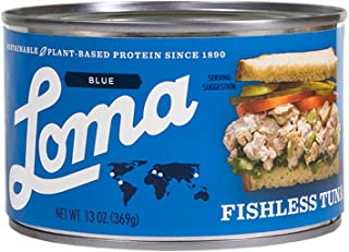 Loma  Linda Blue - Plant-Based - Fishless Tuna (13 oz.) - Non-GMO, Gluten Free, Kosher