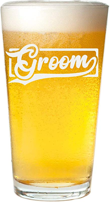 Veracco Groom Beer Glass Pint Bachelor Party Wedding Gift For Groom To Be