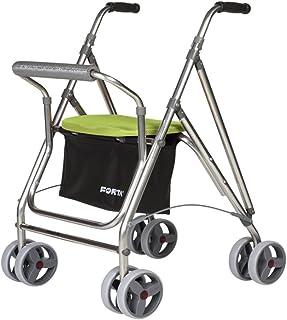 Andador para personas mayores | Rollator de aluminio con