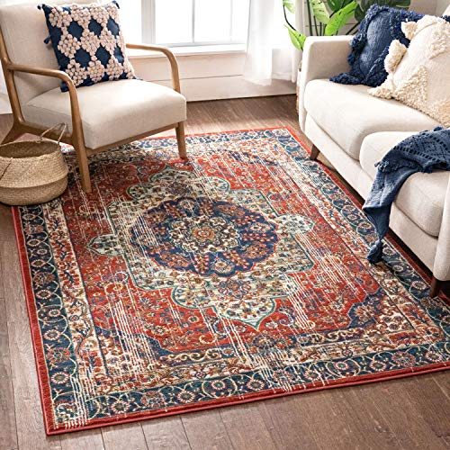 Well Woven Alice Red Traditional Medallion Area Rug 5x7 (5