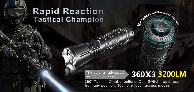 Klarus Klarus Klarus 360X3 LED Taschenlampe 3200 Lumen B07L4VJKLJ | Neuheit  b5057a