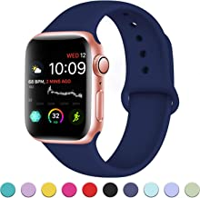 DaQin Band Compatible with Apple Watch 38mm 40mm 42mm 44mm for Women and Men, Sport Replacement Wristbands for iWatch Series 5 Series 4 Series 3/2/1, S/M, M/L