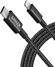 Anker New Nylon USB-C to Lightning Charging Cord for [6ft MFi Certified] for iPhone 13 13 Pro 12 Pro Max 12 11 X XS XR 8 Plus, AirPods Pro, Supports Power Delivery (Black)