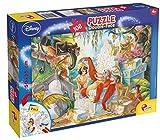 Lisciani, Puzzle pour enfants à partir de 6 ans, 108 pièces, 2 en 1 Double Face Recto / Verso avec le dos à colorier - Disney Le livre de la jungle 48045