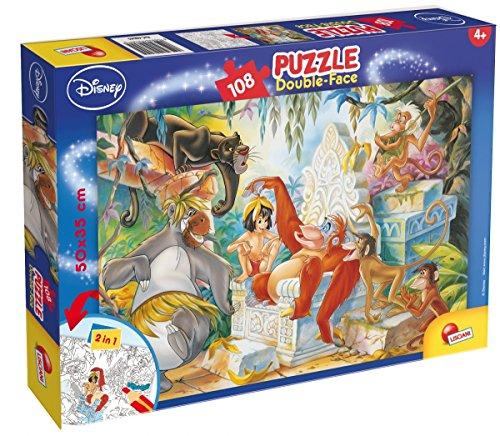Lisciani 48045 Puzzle 2 in 1 Doppel Gesicht Supermaxi 108Stück Dschugelbuch