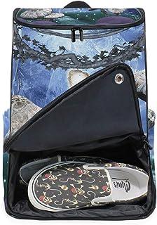 DEZIRO - Mochila para ordenador portátil con diseño de hongos para mujer y hombre, mochila para negocios, para colegio, colegio, colegio, mochila para negocios.