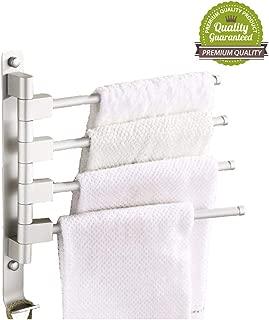 folding bathroom towel rack