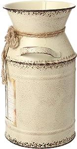 IDoall 19,1cm Alto Rustico Vaso Decorativo Fiore Modello Corda Design, Metal Milk Can Country brocca da Salotto, Camera da Letto, Cucina Stivaletti da Pioggia zebrati - Bambini