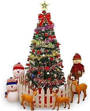 LMDH Árbol de Navidad, árbol de Navidad Artificial con Puntas de Nieve Robusto Soporte del Metal fácil Montaje del árbol de A
