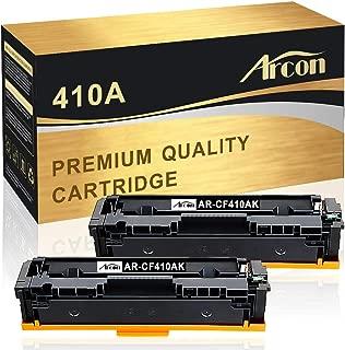 Arcon Compatible Toner Cartridge Replacement for HP 410A 410X CF410A CF410X M477fdw HP Color Laserjet Pro MFP M477fdw M477fnw M477fdn M452dn M452dw M452nw M452 M477 M377dw Toner (Black, 2 Packs)