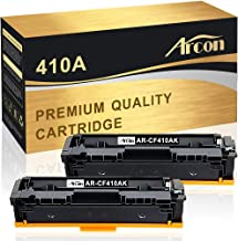 Arcon Compatible Toner Cartridge Replacement for HP 410A 410X CF410A CF410X M477fdw HP Color Laserjet Pro MFP M477fdw M477fnw M477fdn M452dn M452dw M452nw M452 M477 M377dw Toner (Black, 2 Packs)