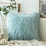 MIULEE Soft Solid Dekorative Quadrat Pelz Throw Kissenbezüge Set Kissen Fall für Sofa Schlafzimmer...