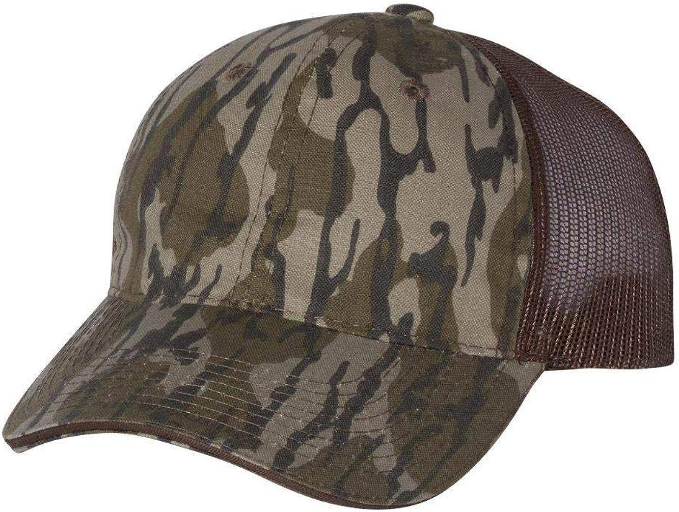 Outdoor Cap - Washed Brushed Mesh-Back Camo Cap - CGWM301