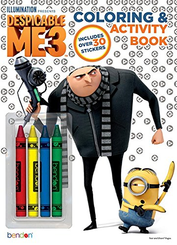 Despicable Me Bendon 3 Coloring and Activity Book with Crayons, 32 Pages 40916 Bendon