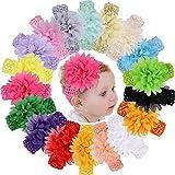 18pcs Baby Girls Headbands Chiffon Flower Soft Strecth Hair Band...