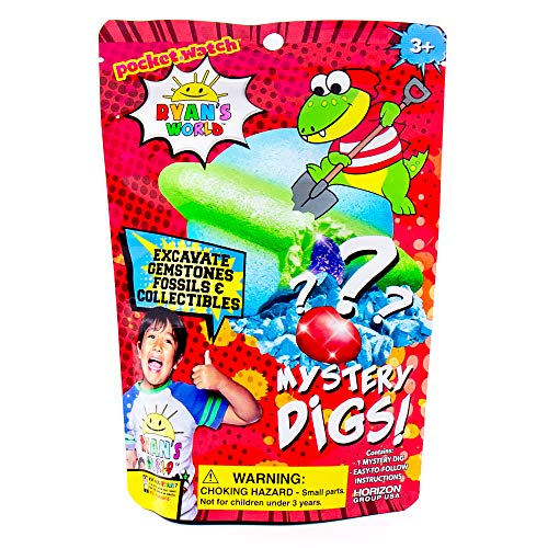 RYAN'S WORLD Mystery Digs, Blind Bags, 3 Mystery Options, Gem Dig, SLIMYGLOOP Dig, Fizzing Dig by Horizon Group USA
