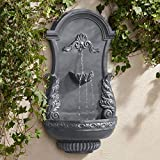 "Tivoli Bronze Ornate 33"" High Wall Fountain"