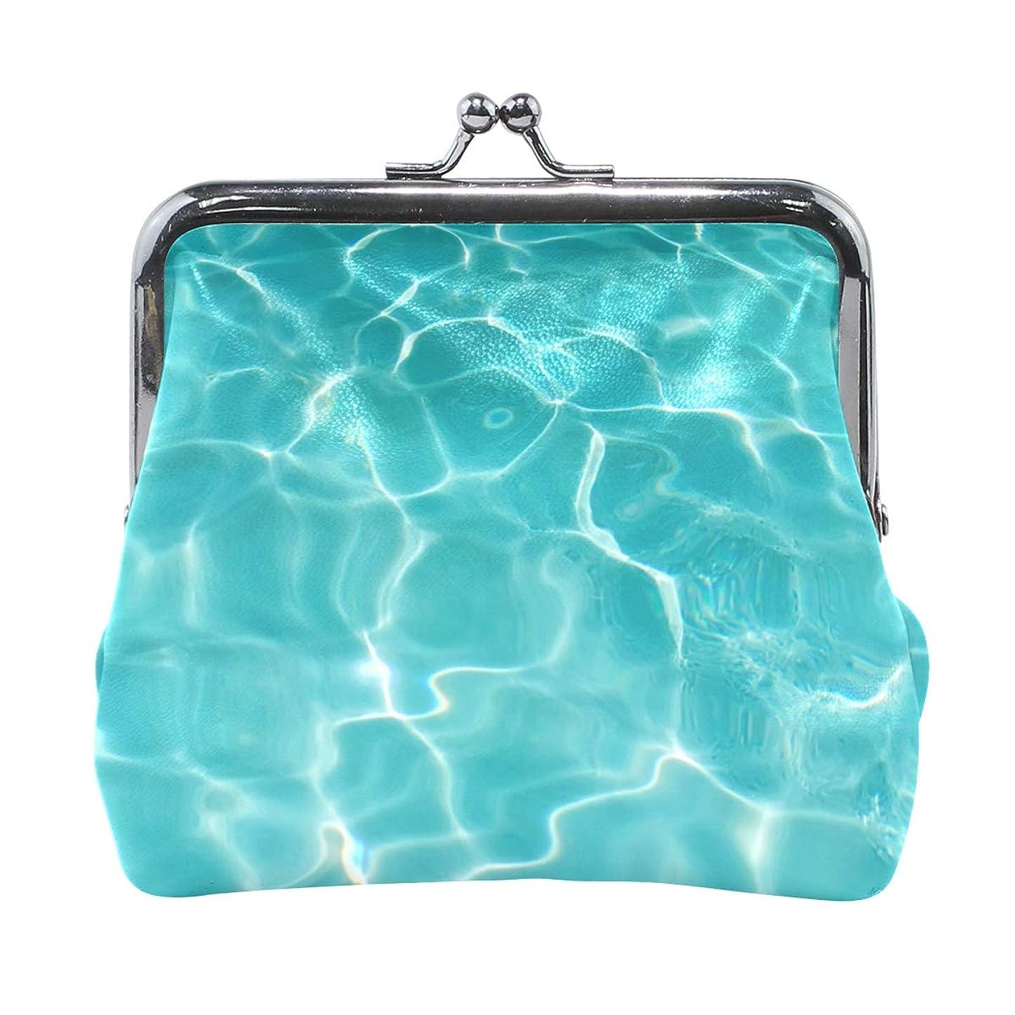港先のことを考える自宅でがま口 財布 口金 小銭入れ ポーチ 海 水 ANNSIN バッグ かわいい 高級レザー レディース プレゼント ほど良いサイズ