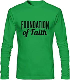 Piccazoo Men's Foundation Of Faith Long Sleeve T-Shirt