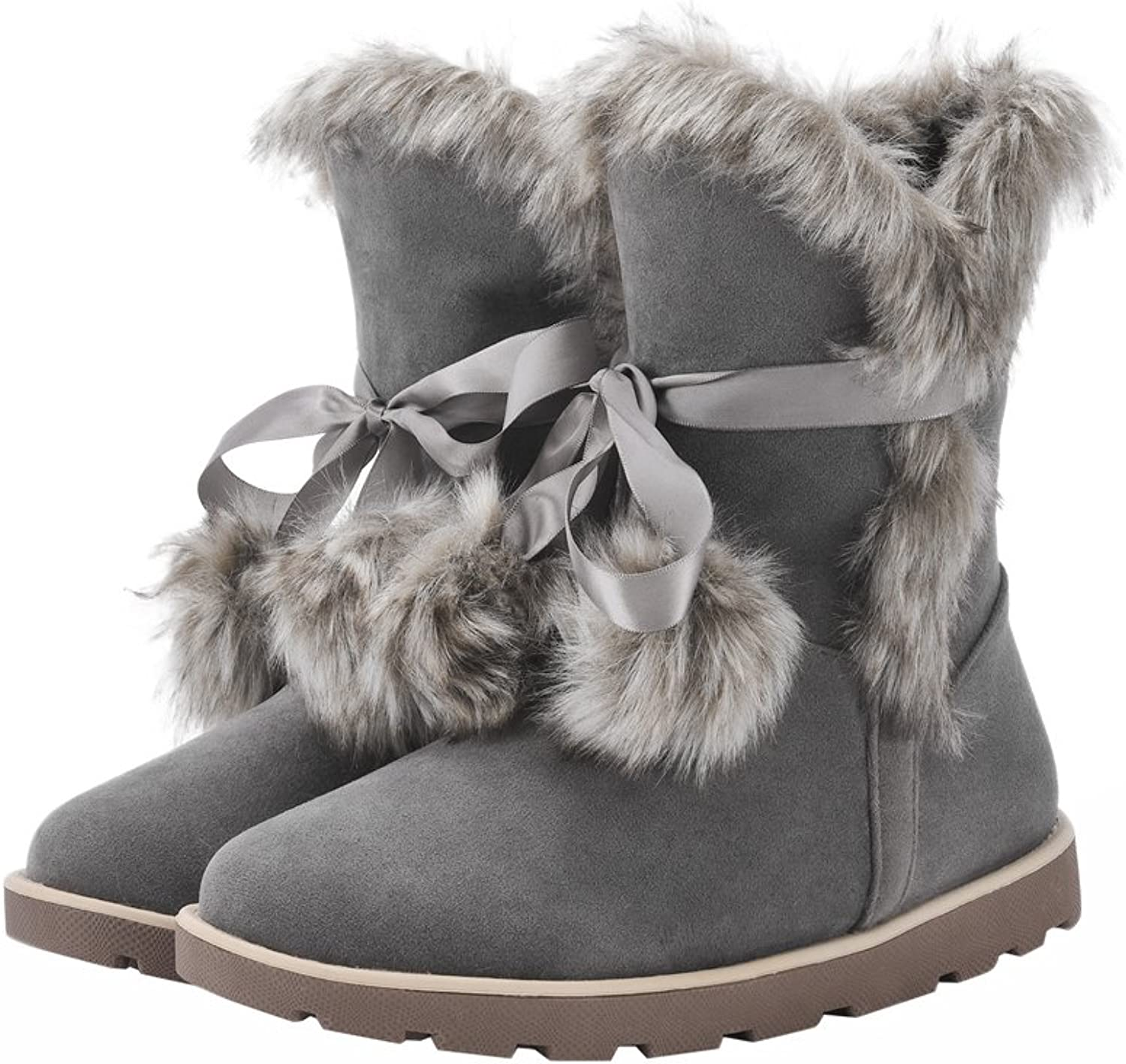 Eclimb Women's Winter Snow Fur Lining Slip on Casual Fashion Cold Weather Boots