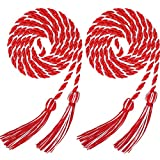 Hankyky 2pcs Graduation Honor Cords Tassels Cord Polyester Yarn Honor Cord with Tassel for Bachelor Gown for...