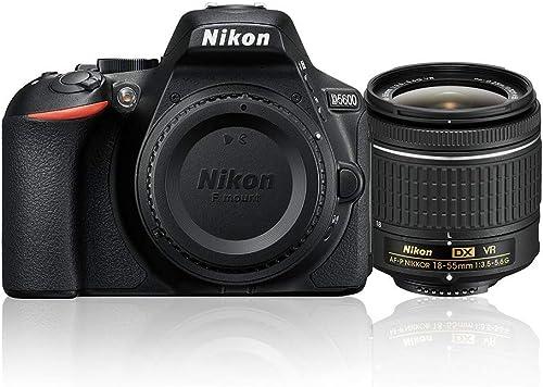 Nikon D5600 + AF-P 18-55mm VR Single Lens Kit, Black