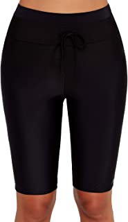 Gloria&Sarah Women's Boardshort Tankini Swimwear Shorts High Waisted Rash Guard Boy Leg Skinny Swim Bottom Shorts