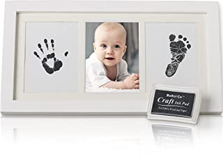 Baby Ink Handprint & Footprint Photo Frame Kit for Newborn Girls and Boys, Unique Baby Shower Gifts Set for Registry, Memo...