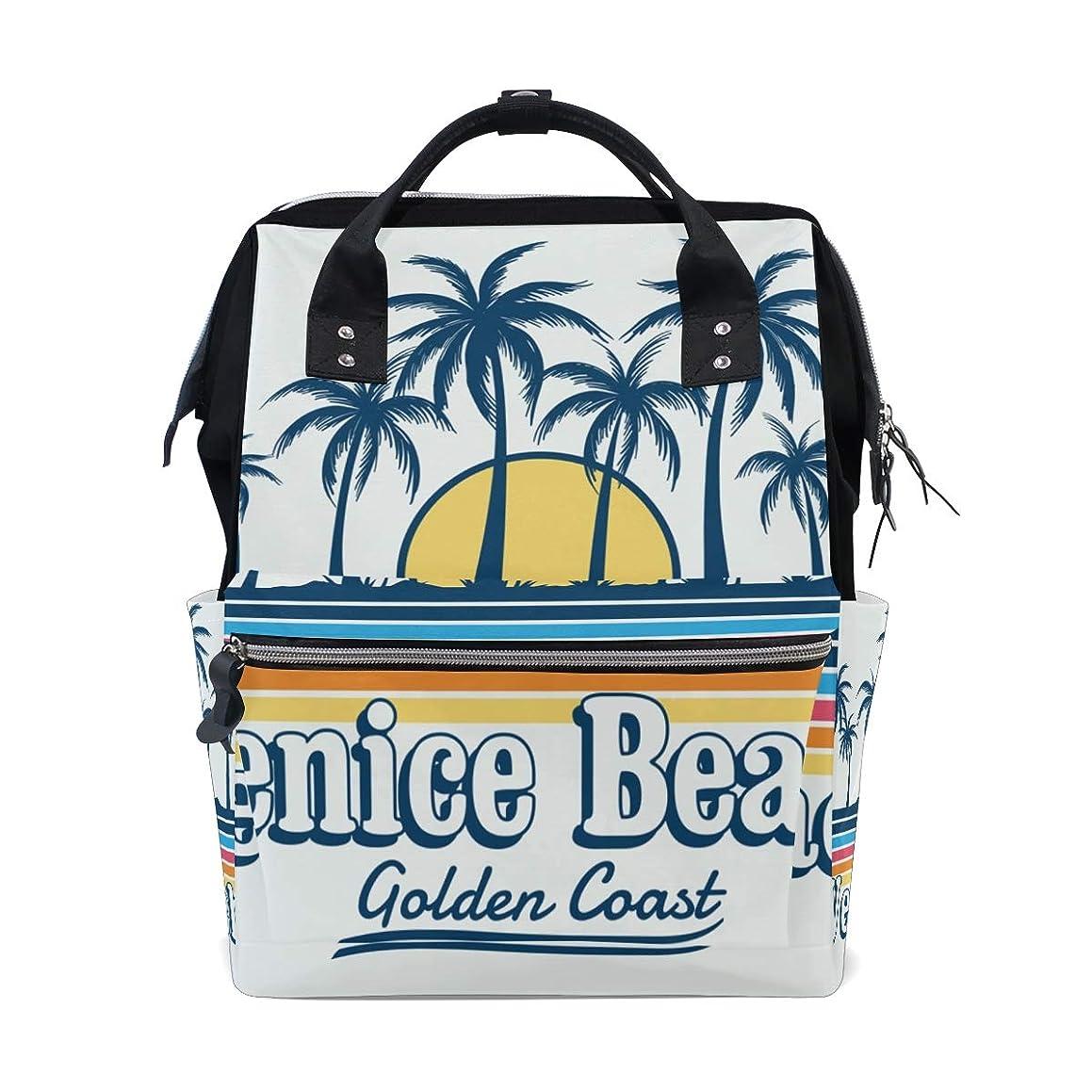 Venice Beach Coconut Tree Sunset School Backpack Large Capacity Mummy Bags Laptop Handbag Casual Travel Rucksack Satchel For Women Men Adult Teen Children