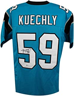 Luke Kuechly Autographed Carolina Panthers Custom Blue Football Jersey - BAS COA