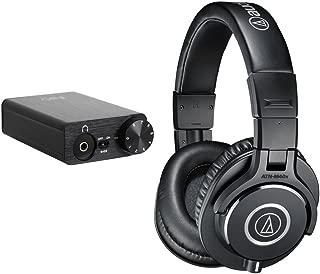 Audio-Technica ATH-M40x Monitor Headphones (Black) with FiiO E10K USB DAC Headphone Amplifier (Black)