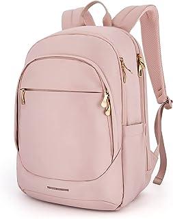کوله پشتی زنانه LIGHT FLIGHT لپ تاپ کوله پشتی مخصوص خانمها Travel School Backpack 15.6 اینچ کیف لپ تاپ مخصوص کالج کار صورتی