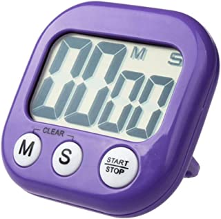 DZT1968 LCD Digital Kitchen Cooking Timer Clock Loud Alarm With Stand (Purple)