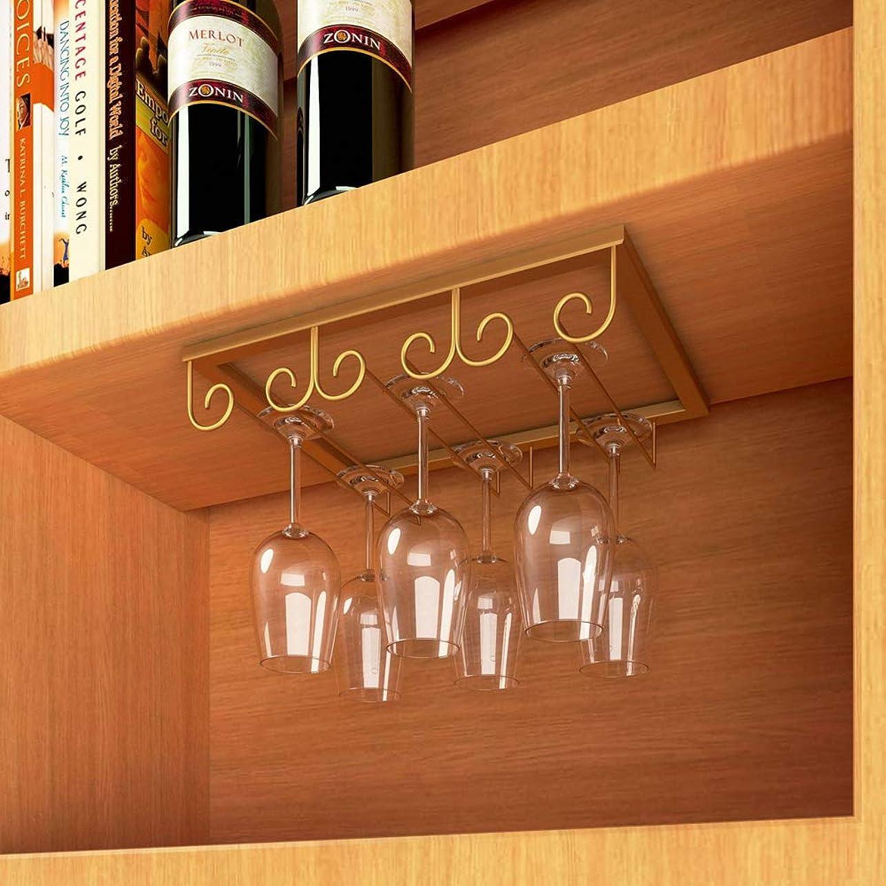 売上高まあ文庫本戸棚下 ワイングラス ホルダー ワイングラス ハンガー ステンレス製吊り下げ シャンパングラス ハンガー 簡単取り付け ネジ付き 家庭 業務用