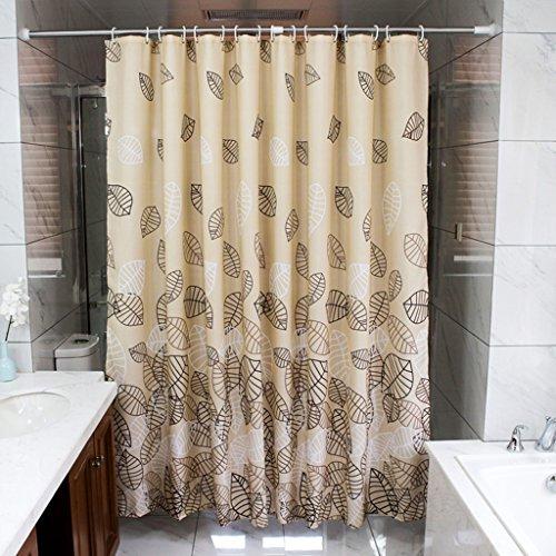 Feuilles modernes minimalistes Rideaux de douche d'hôtel Salle de bains Imperméable Mildewproof Couper les rideaux ( taille : 180*180cm )