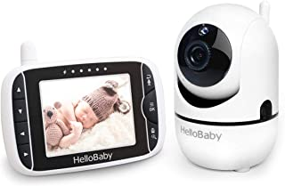 Baby Monitor with Remote Pan-Tilt-Zoom Camera and 3.2'' LCD Screen, Infrared Night Vision