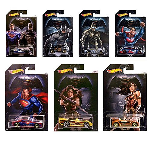 Batman V Superman Set 7 Modellautos 1:64 Hot Wheels DJL47