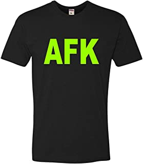 Go All Out Adult Away from Keyboard AFK Funny Gamer PC Gaming Deluxe T-Shirt