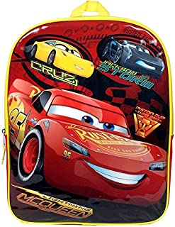 Disney Pixar Cars Lightning McQueen Cruz Jackson Storm Speed Buddies Backpack