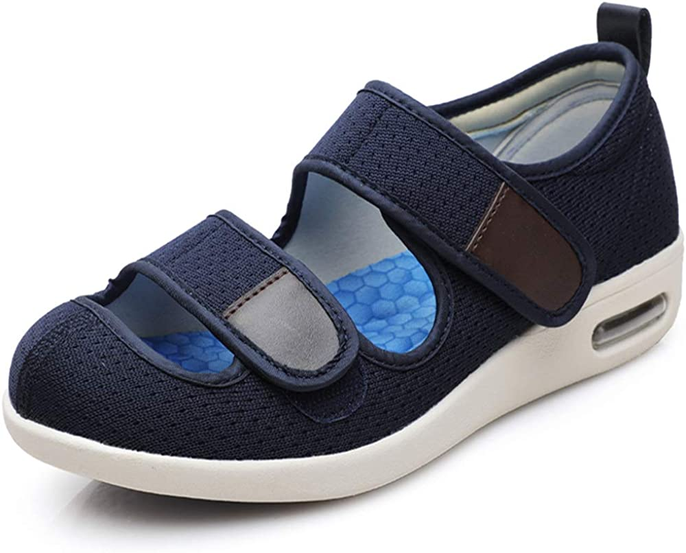 Women's Walking Shoes Wide Width Adjustable Breathable Diabetic Shoes For The Elderly Swollen Feet ,Plantar Fasciitis Slippers