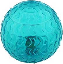 Aduck Christmas Dog Ball Toys Squeaky (Arrow Bouncy Series) (Non-Toxic Soft Natural Rubber), Cute Crystal Ball Design -3.15inch