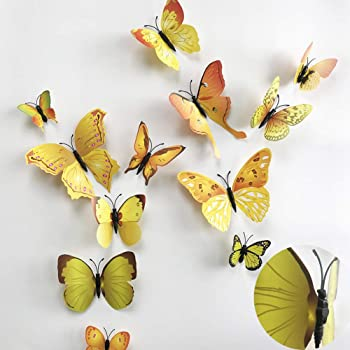 60 Pcs Removable 3d Butterfly Wall Stickers Decals Diy Wall Art Decor Home Wall Decoration Sticker Mural For Kids Girls Children Bedroom Living Room Background Nursery 5 Colors Multi Livegallery Tools
