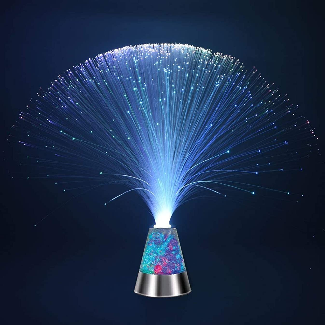 Weiduka? Multicolor Fiber Optic Light Colourful Changing Lamp With Color-Changing Crystals