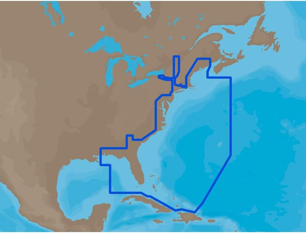 C-Map NA-M022 MAX U.S. East Coast and The Bahamas - SD Card